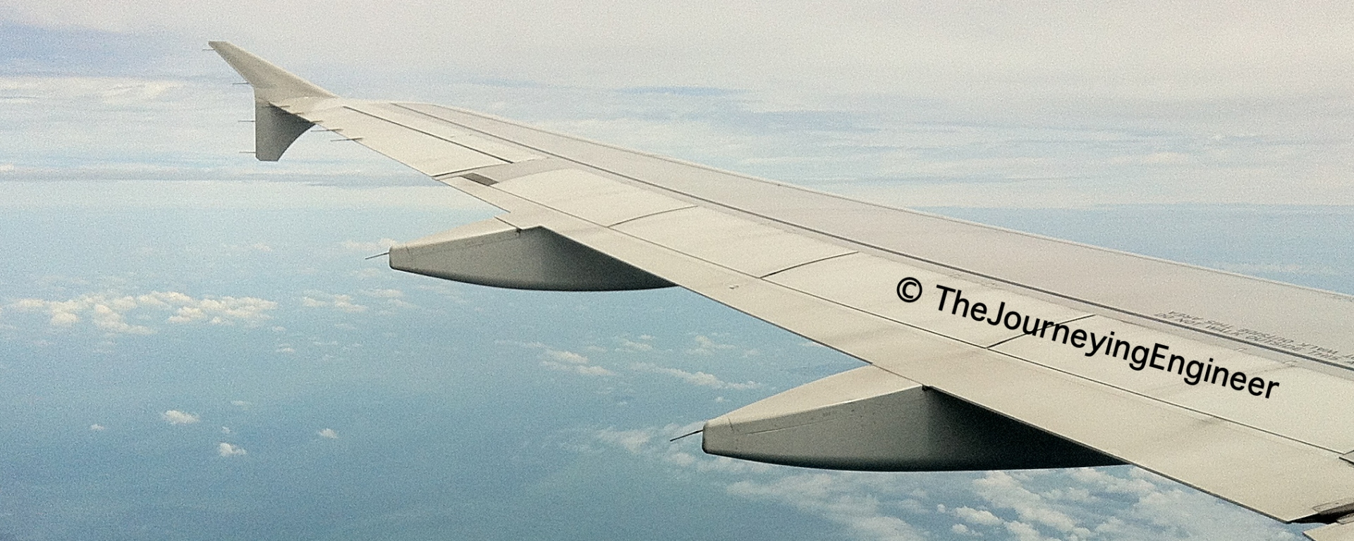A plane's wing