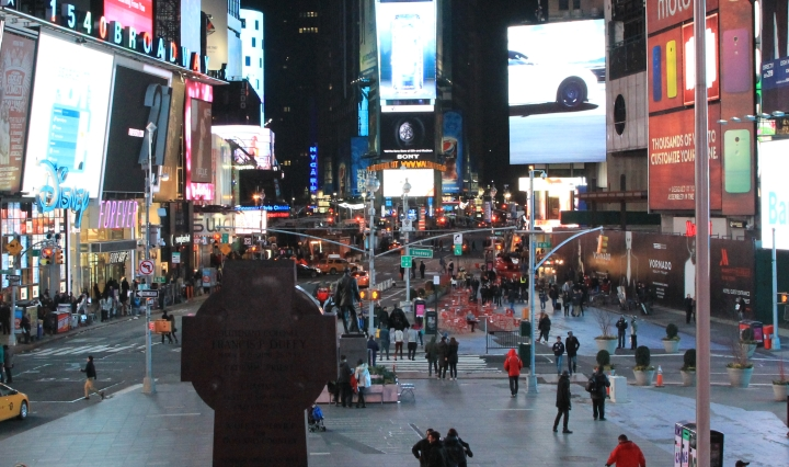 Times Square at night NYC