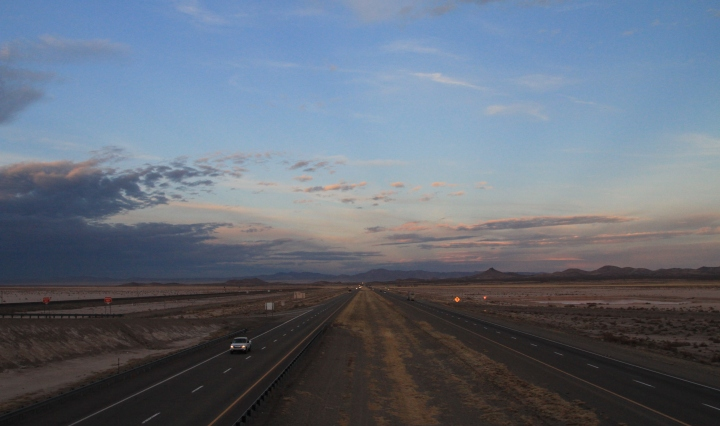 Twilight shot of Highway at New Mexico