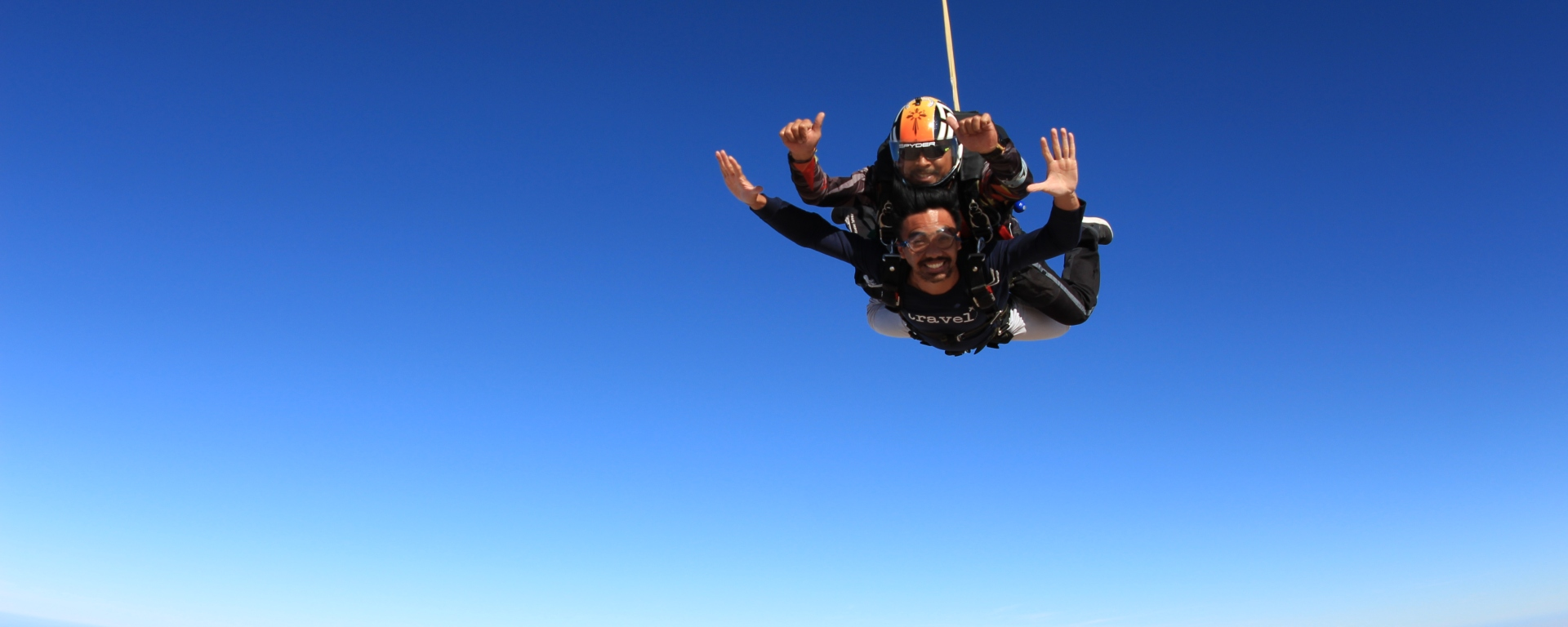 The Journeying Engineer skydiving in Dubai